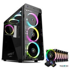 Tsunami Unlimited Series T7+ Gaming Case Remote Version With Circle Rgb Cooling Fan X7 By Fun Republic Co.,ltd..