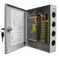 ราคา ตู้จ่ายไฟ 9 Ch 12V 15A สำหรับกล้องวงจรปิด 8 จุด ไม่ต้องใช้ อแดปเตอร์ Switching Power Supply Grey ใหม่