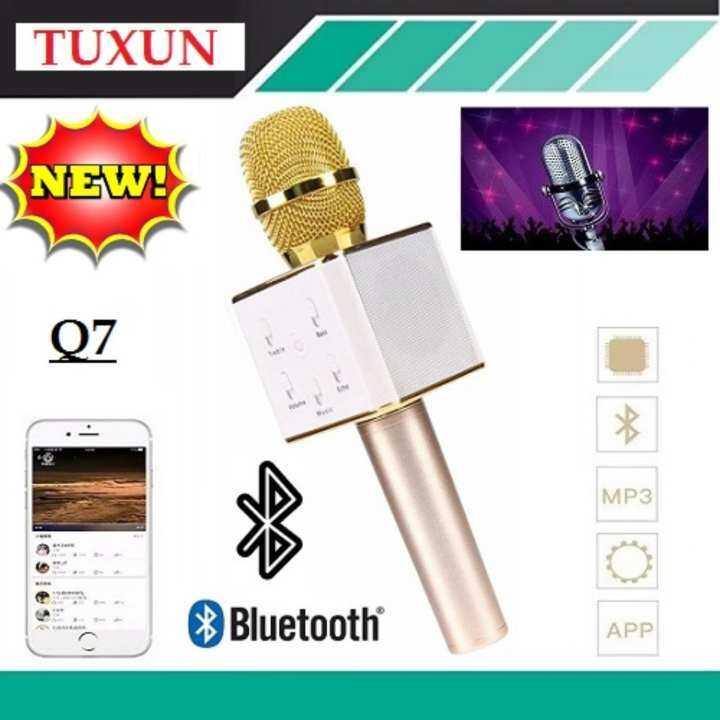 TUXUN Q7 ไมโครโฟนไร้สายแบบมือถือลำโพงบลูทูธ Karaoke Bluetooth Microphone