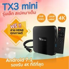 ทบทวน Tx3 Mini Android 7 1 Tv Box Ram 2Gb Rom16Gb Amlogic S905W Quad Core Smart Tv Set Box H 265 4K 2 4Ghz Wifi Media Player Android Smart Box