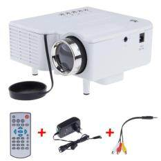 ทบทวน Uc28 Portable Mini Led Projector With Vga Usb Sd Av Hdmi Hd Projectors White No Brand