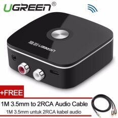 ราคา Ugreen Mini Bluetooh 4 1 Audio Receiver 2Rca Wireless Music Adapter With 3 5Mm To 2Rca Audio Cable For Car Speaker Intl ใหม่