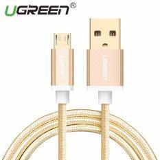 ส่วนลด Ugreen สายเคเบิล Usb Micro Braided Micro Cable ข้อมูลการซิงค์สายชาร์จสำหรับ N โทรศัพท์ Android 1 เมตรทอง จีน