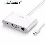 ราคา Ugreen Usb C To Vga Ethernet Adapter With Usb 3 Usb 2 Hub Type C For Power Delivery Lan Adapter For 12 Inch Macbook Chromebook Pixel Matebook And Other Usb Type C Devices Intl ใหม่ล่าสุด