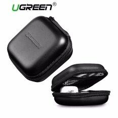 Ugreen Zipper Earphones Earbuds Carrying Bag Case Memory Card Usb Cable Waterproof Organizer Box - Intl.