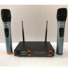 ไมโครโฟนไร้สาย/ไมค์ลอยคู่ UHF ประชุม ร้องเพลง พูด WIRELESS Microphone รุ่น A-ONE A-111