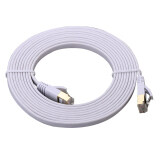 Ultra Slim Flat Type Cat 7 High Speed Lan Cable สายแลน Cat 7 3M White ใหม่ล่าสุด