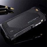 ขาย Ultra Thin Element Sector Pro Metal Aluminum Carbon Cell Phone Cases For Apple Iphone 6 6S 4 7 Inch Mobile Case Cover Black