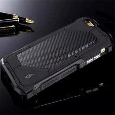 โปรโมชั่น Ultra Thin Element Sector Pro Metal Aluminum Carbon Cell Phone Cases For Apple Iphone 6 6S 4 7 Inch Mobile Case Cover Black จีน