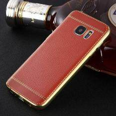 ซื้อ Ultra Thin Litchi Grain Leather Plating Tpu Case Soft Back Cover For Samsung Galaxy S7 Edge Intl Unbranded Generic ออนไลน์