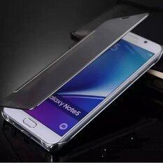 โปรโมชั่น Ultra Thin Mirror Full Protective Leather Case For Samsung Galaxy Note5 Black Intl จีน
