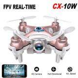 Uni โดรนบังคับพร้อมกล้องCx10W Fpv DroneบังคับCamera 720P Wi Fiขนาดจิ๋ว6 Cm สีโอรส Pink ถูก