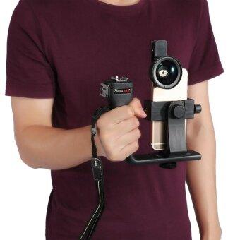 Universal Adjustable Handheld Bluetooth Stabilizer Rig Mount Kit Holder w/ Lens for Smart Phone - intl