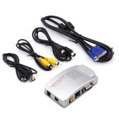 Universal Pc Converter Box Vga To Tv Av Rca Signal Adapter Converter Video Switch Box Composite Supports Ntsc Pal.