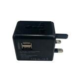 ขาย Universal Plug Travel Adapter หัวปลั๊ก อเนกประสงค์ พร้อมช่อง Usb 2 Port สีดำ