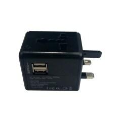 ขาย Universal Plug Travel Adapter หัวปลั๊ก อเนกประสงค์ พร้อมช่อง Usb 2 Port สีดำ ถูก กรุงเทพมหานคร