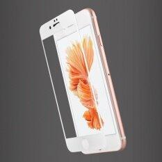 ขาย ซื้อ Usams 3Mm 9H Premium Version Carbon Fiber 3D Tempered Glass Screen Protector Film For Iphone 6 Plus 6S Plus White Intl