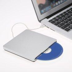โปรโมชั่น Usb 2 แบบพกพาบาง External สล็อตซีดีดีวีดีรอมไดรฟ์ Writer Burner Reader สำหรับ Imac Macbook Macbook อากาศ แล็ปท็อปพีซีเดสก์ท็อป นานาชาติ ถูก