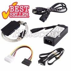 ราคา Usb 2 To Sata Ide Hard Drive Cable For Hd Hdd Adapter W Power For 2 5 3 5 Inch Hard Drive ถูก