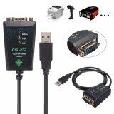 ขาย ซื้อ ออนไลน์ Usb 2 To Serial Rs 232 Db9 9Pin Adapter Converter Cable Ftdi Chipset 1M Led Intl