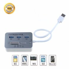 Usb 3.0 To 3-Port Usb Hub + Ms/sd/m2/tf Card Reader Combo By Adilink.