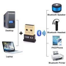 Usb Bluetooth Adapter V4.0 Dual Mode High Speed Wireless Bluetooth Dongle Csr 4.0 Usb 2.0/3.0 For Windows 10/8/7/vista/xpรุ่นmg1001 (black).