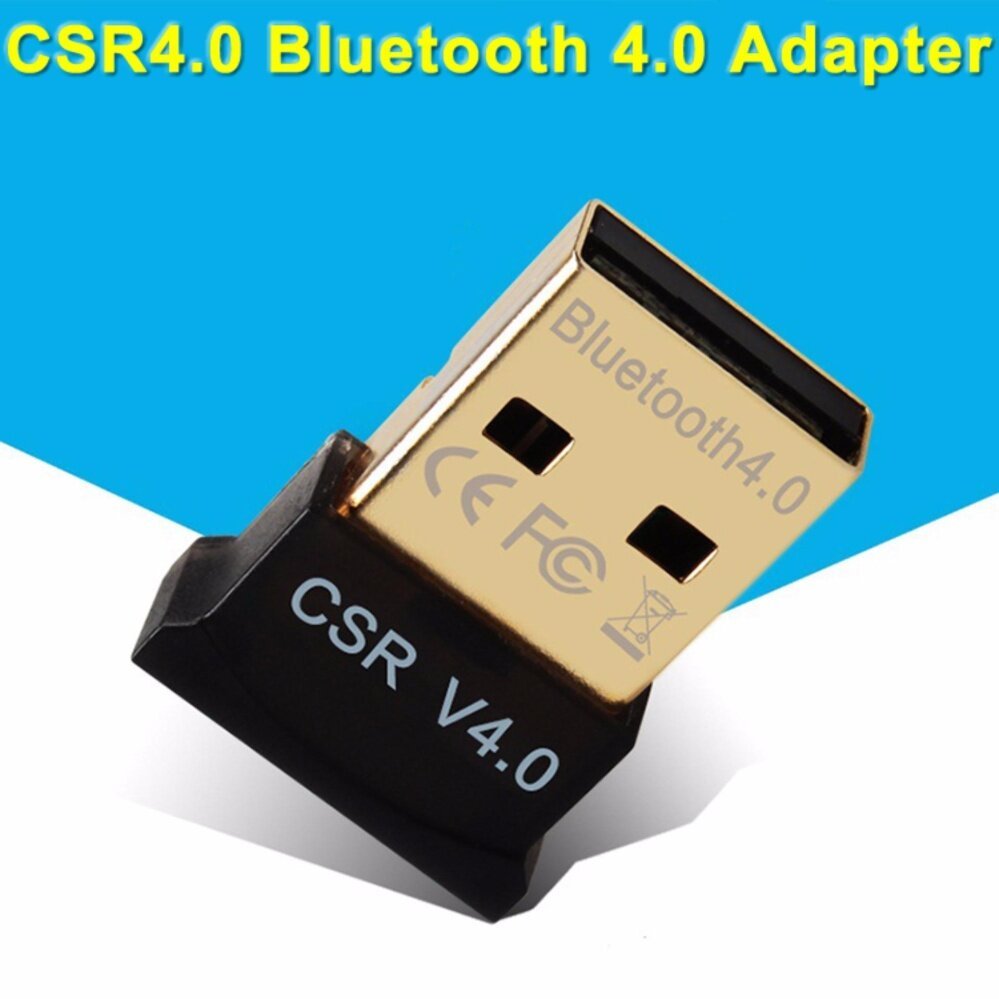USB Bluetooth Adapter V4.0 Dual Mode High Speed Wireless Bluetooth Dongle CSR 4.0 USB 2.0/3.0 For Windows 10/8/7/Vista/XP รุ่น MG1001 (Black)