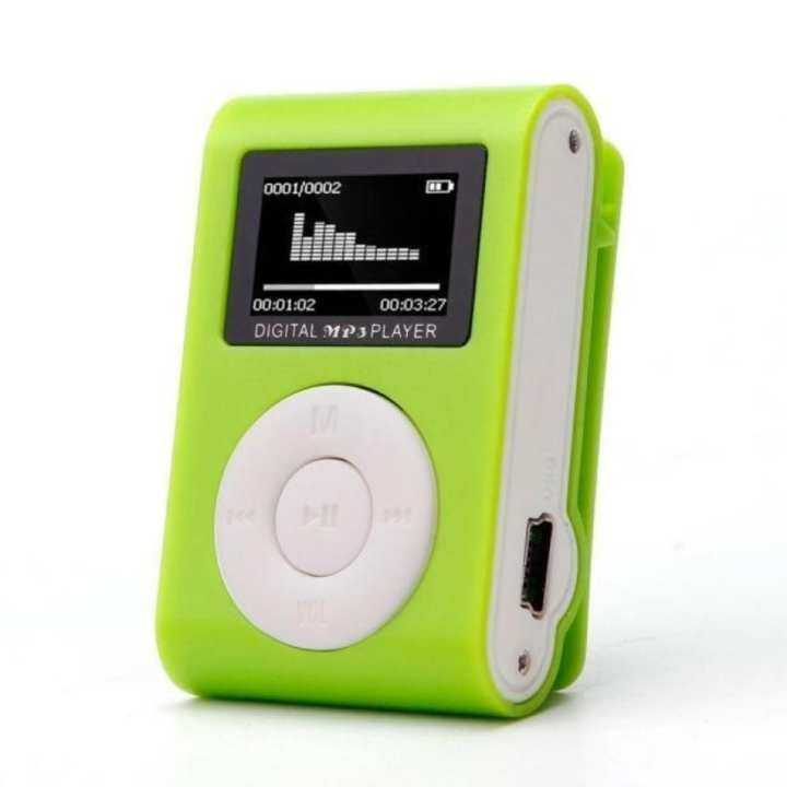 USB Clip MP3 Player LCD Screen Support 32GB Micro SD TF Card Blue - intl