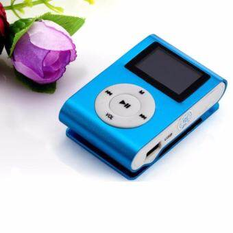 USB Clip MP3 Player LCD Screen Support 32GB Micro SD TF Card Blue - intl  -