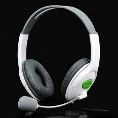 ขาย ซื้อ Usb Connector Headset Headphone W Microphone Volume Control White 200Cm Cable Intl