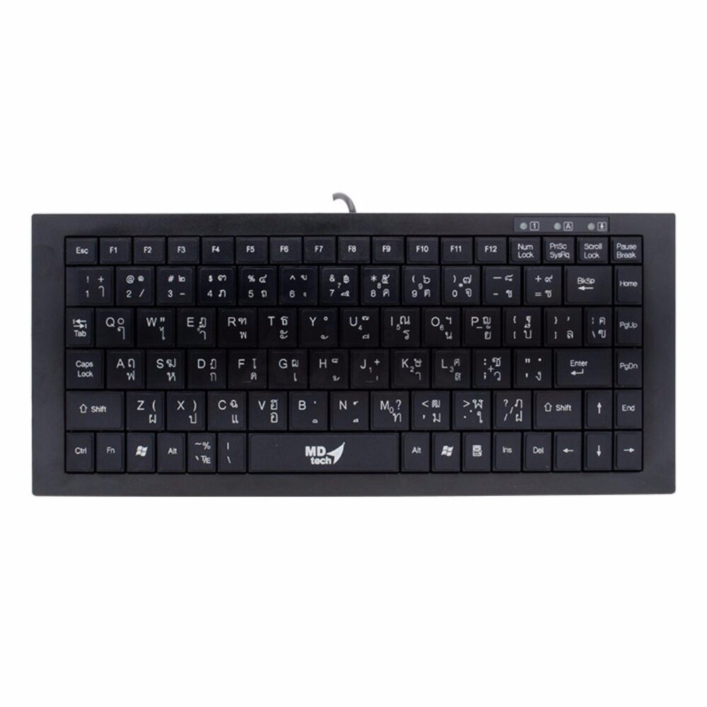 คีย์บอดมินิ USB Keyboard MD-TECH (KB-208 Mini) Black