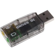 External Usb 2.0 To 3d Virtual Audio Sound Card Adapter Converter 5.1 Channels (black) .