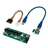 ขาย Usb3 Pci E Pci Express 1X To 16X Riser Extender Card Adapter Sata Power Cable 30Cm Green Intl ถูก จีน