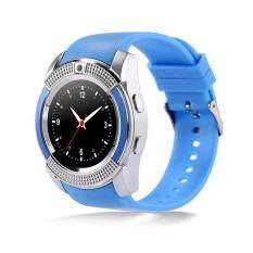 ขาย ซื้อ V8 Smart Watch Clock With Sim Tf Card Slot Bluetooth For Android And Ios Intl ใน จีน