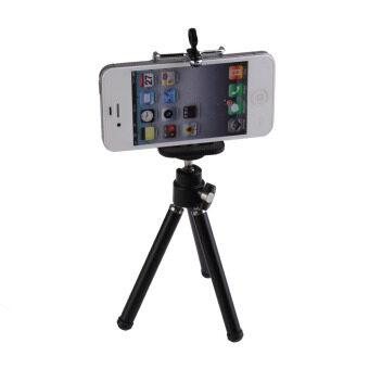 VAKIND 1/10.16ซมพับได้โทรศัพท์มือถือที่บูธขาตั้งสำหรับกล้องวิดีโอโฟน (สีดำ) - Intl