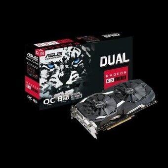 การ์ดจอ VGA Asus Radeon RX580/8Gb GDDR5 Dual OC Edition (DUAL-RX580-O8G)