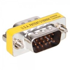 Vga Hd15 Male To Male Mini Gender Changer Adapter (intl) By Q-Com.