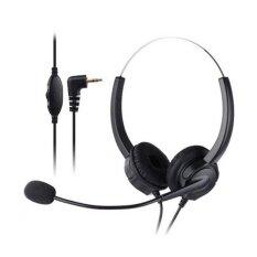 โปรโมชั่น Vh530D ชุดหูฟังโทรศัพท์มืออาชีพล้างเสียงรบกวนการยกเลิกบริการลูกค้าสายหัว 2 5 มิลลิเมตรแจ็คหูฟังสำหรับโทร Center โทรศัพท์ดิจิตอล นานาชาติ ใน จีน