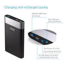 โปรตอนรับ Summer แถมฟรี หัวชาร์จเร็วและสายชาร์จ 3 หัว 3A หมดแล้วหมดเลย VINSIC 20000 mAh Quick Charge QC 3.0 ชาร์จเร็ว ทั้งเข้าและออก รองรับ Type-C USB‑C USB Power Bank แบตเตอรี่สำรอง