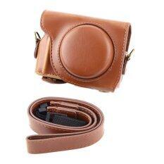 ราคา Vintage Pu Leather Camera Case Bag Strap For Canon G9X Camera Brown Intl ใหม่