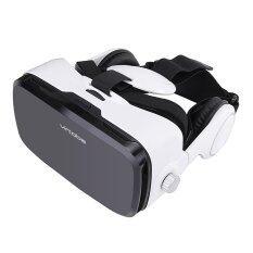 ราคา ราคาถูกที่สุด Virtoba X5 Vr Box 120° Fov 3D Vr Virtual Reality 3D Movie Video Game Glass With Headphone For 4 6 Inch Smartphone Intl