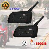 ซื้อ Vnetphone V4 1200 แพคคู่ หูฟัง บลูทูธติดหมวกกันน็อค มอเตอร์ไซค์ Bigbike Motorcycle Helmet Bluetooth Intercom Headset Duo Pack ถูก
