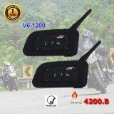 ส่วนลด Vnetphone V6 Pro 1200 หูฟัง บลูทูธติดหมวกกันน็อค มอเตอร์ไซค์ Bigbike แพคคู่ Motorcycle Helmet Bluetooth Intercom Headset Duo Pack Vnetphone Thailand