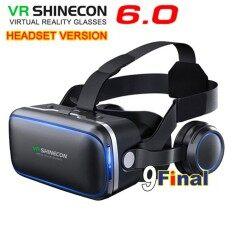 แว่นตา VR 3D , แว่น 3D VR Shinecon 6.0 (Model G04E) พร้อมหูฟังในตัว Stereo Virtual Reality 3D Glass Google BOX VR Headset for IOS & Android