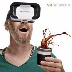Vr Shinecon® 3D Virtual Reality Phone Smart Vr Box Glasses Home Theater Play Game Helmet White Intl จีน