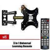 ขาย Vrn Hd ขาแขวนทีวี 17 37 Inch Led Lcd Tv Full Motion Single Arm Tv Wall Mount รุ่น S37 แถมฟรี 3 In1 Universal Learning Remote Ih Mini86E ไทย