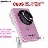 ซื้อ กล้อง Vstarcam Ip Camera 1080P รุ่น C60S 180องศาไร้สายWi Fi Onvif สีชมพู Vstarcam