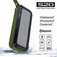ขาย W King S20 Outdoor Waterproof Wireless Speaker Green ผู้ค้าส่ง