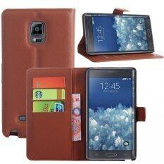ขาย Wallet Case For Samsung Galaxy Note Edge Brown Unbranded Generic ถูก