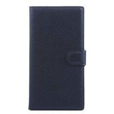 ส่วนลด Wallet Flip Leather Case With Card Bag Holder For Microsoft Lumia 1520 Black ฮ่องกง